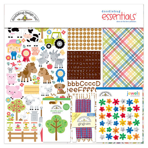 Doodlebug Design - Down on the Farm Collection - Essentials Kit