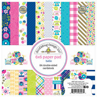 Doodlebug Design - Hello Collection - 6 x 6 Paper Pad with Foil Accents