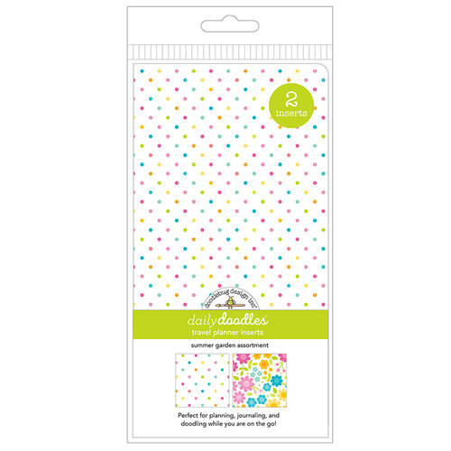 Doodlebug Design - Daily Doodles Collection - Travel Planner - Inserts - Summer Garden - 2 Pack
