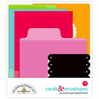 Doodlebug Design - So Much Pun Collection - Create-A-Card - Cards and Envelopes - Assortment
