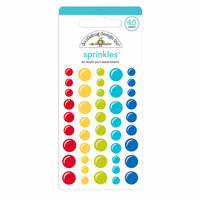 Doodlebug Design - So Much Pun Collection - Sprinkles - Self Adhesive Enamel Dots - Assortment
