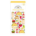 Doodlebug Design - So Much Pun Collection - Sprinkles - Self Adhesive Enamel Shapes - Taco-bout Fun