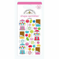 Doodlebug Design - So Much Pun Collection - Sprinkles - Self Adhesive Enamel Shapes - So Sweet