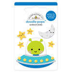 Doodlebug Design - So Much Pun Collection - Doodle-Pops - 3 Dimensional Cardstock Stickers - Out of this World