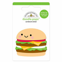 Doodlebug Design - So Much Pun Collection - Doodle-Pops - 3 Dimensional Cardstock Stickers - Well Done