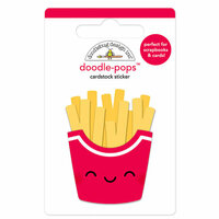Doodlebug Design - So Much Pun Collection - Doodle-Pops - 3 Dimensional Cardstock Stickers - Fry Day