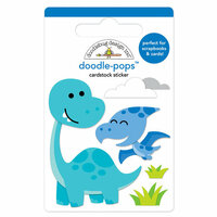 Doodlebug Design - So Much Pun Collection - Doodle-Pops - 3 Dimensional Cardstock Stickers - Dino-mite
