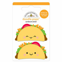 Doodlebug Design - So Much Pun Collection - Doodle-Pops - 3 Dimensional Cardstock Stickers - Taco-bout Fun