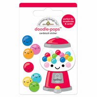 Doodlebug Design - So Much Pun Collection - Doodle-Pops - 3 Dimensional Cardstock Stickers - Gum-believable