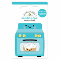 Doodlebug Design - So Much Pun Collection - Doodle-Pops - 3 Dimensional Cardstock Stickers - Baking News