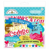 Doodlebug Design - So Much Pun Collection - Chit Chat - Die Cut Cardstock Pieces