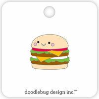 Doodlebug Design - So Much Pun Collection - Collectible Pins - Cheeseburger