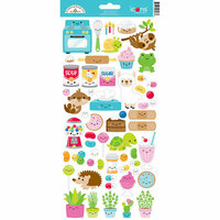 Doodlebug Design - So Much Pun Collection - Cardstock Stickers - Icons Too