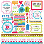 Doodlebug Design - So Much Pun Collection - 12 x 12 Cardstock Stickers - This and That