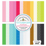 Doodlebug Design - So Much Pun Collection - 12 x 12 Paper Pack - Petite Print