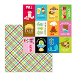 Doodlebug Design - So Much Pun Collection - 12 x 12 Double Sided Paper - Best I Ever Plaid