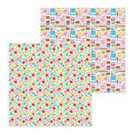 Doodlebug Design - So Much Pun Collection - 12 x 12 Double Sided Paper - Dash of Flower