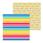 Doodlebug Design - So Much Pun Collection - 12 x 12 Double Sided Paper - Just my Stripe