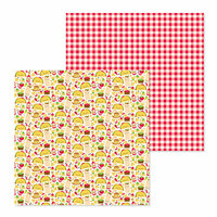Doodlebug Design - So Much Pun Collection - 12 x 12 Double Sided Paper - Fantas-taco