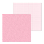 Doodlebug Design - Petite Prints Collection - 12 x 12 Double Sided Paper - Floral and Graph - Cupcake