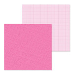 Doodlebug Design - Petite Prints Collection - 12 x 12 Double Sided Paper - Floral and Graph - Bubblegum