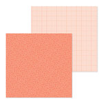 Doodlebug Design - Petite Prints Collection - 12 x 12 Double Sided Paper - Floral and Graph - Coral