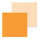 Doodlebug Design - Petite Prints Collection - 12 x 12 Double Sided Paper - Floral and Graph - Mandarin