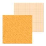 Doodlebug Design - Petite Prints Collection - 12 x 12 Double Sided Paper - Floral and Graph - Tangerine