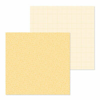 Doodlebug Design - Petite Prints Collection - 12 x 12 Double Sided Paper - Floral and Graph - Lemon