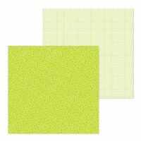 Doodlebug Design - Petite Prints Collection - 12 x 12 Double Sided Paper - Floral and Graph - Citrus