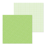 Doodlebug Design - Petite Prints Collection - 12 x 12 Double Sided Paper - Floral and Graph - Limeade