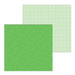 Doodlebug Design - Petite Prints Collection - 12 x 12 Double Sided Paper - Floral and Graph - Grasshopper