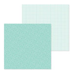 Doodlebug Design - Petite Prints Collection - 12 x 12 Double Sided Paper - Floral and Graph - Pistachio