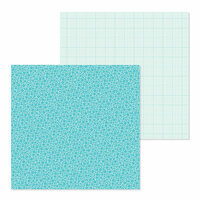 Doodlebug Design - Petite Prints Collection - 12 x 12 Double Sided Paper - Floral and Graph - Swimming Pool