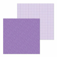 Doodlebug Design - Petite Prints Collection - 12 x 12 Double Sided Paper - Floral and Graph - Orchid