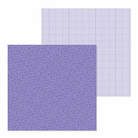 Doodlebug Design - Petite Prints Collection - 12 x 12 Double Sided Paper - Floral and Graph - Lilac