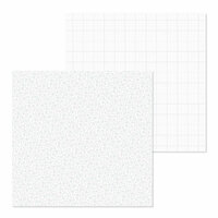 Doodlebug Design - Petite Prints Collection - 12 x 12 Double Sided Paper - Floral and Graph - Lily White