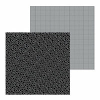Doodlebug Design - Petite Prints Collection - 12 x 12 Double Sided Paper - Floral and Graph - Beetle Black