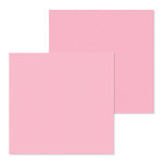 Doodlebug Design - Petite Prints Collection - 12 x 12 Double Sided Paper - Dot and Stripe - Cupcake