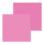 Doodlebug Design - Petite Prints Collection - 12 x 12 Double Sided Paper - Dot and Stripe - Bubblegum