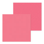 Doodlebug Design - Petite Prints Collection - 12 x 12 Double Sided Paper - Dot and Stripe - Cherry