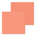 Doodlebug Design - Petite Prints Collection - 12 x 12 Double Sided Paper - Dot and Stripe - Coral