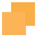 Doodlebug Design - Petite Prints Collection - 12 x 12 Double Sided Paper - Dot and Stripe - Tangerine