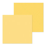 Doodlebug Design - Petite Prints Collection - 12 x 12 Double Sided Paper - Dot and Stripe - Bumblebee