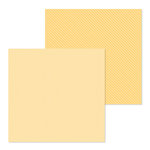 Doodlebug Design - Petite Prints Collection - 12 x 12 Double Sided Paper - Dot and Stripe - Lemon