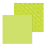 Doodlebug Design - Petite Prints Collection - 12 x 12 Double Sided Paper - Dot and Stripe - Citrus