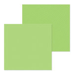Doodlebug Design - Petite Prints Collection - 12 x 12 Double Sided Paper - Dot and Stripe - Limeade