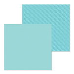 Doodlebug Design - Petite Prints Collection - 12 x 12 Double Sided Paper - Dot and Stripe - Swimming Pool