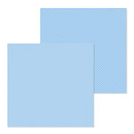 Doodlebug Design - Petite Prints Collection - 12 x 12 Double Sided Paper - Dot and Stripe - Bubble Blue