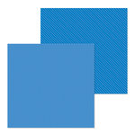 Doodlebug Design - Petite Prints Collection - 12 x 12 Double Sided Paper - Dot and Stripe - Blue Jean